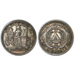Honduras, 25 centavos, 1888/6, NGC XF 40.