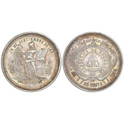 Lot of two Honduras 25 centavos, ex- Roberts (stated on labels): 1895, NGC XF 45; and 1901, NGC AU 5