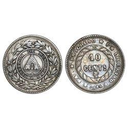 Honduras, 10 centavos, 1885, NGC XF 45.