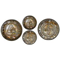 Honduras, 5 centavos, 1896/86, NGC MS 64.