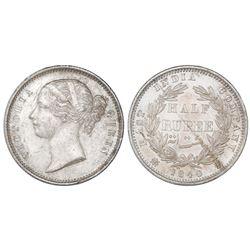 India (British), 1/2 rupee, Victoria, 1840(B&C), NGC MS 63.
