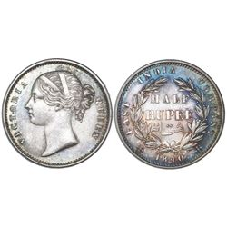 India (British), 1/2 rupee, Victoria, 1840(B&C), NGC MS 61.