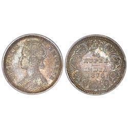 Calcutta, India (British), 1/4 rupee, Victoria, 1878(C ), no mintmark, NGC AU 53.