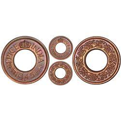 Lahore, India (British), original proof bronze pice, 1945-L, George VI, PCGS PR64BN, finest and only