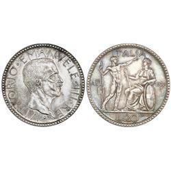 Rome, Italy, 20 lire, 1928-R (VI), Vittorio Emanuele III, NGC MS 61.