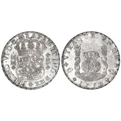 Mexico City, Mexico, pillar 8 reales, Ferdinand VI, 1759MM, NGC MS 61.