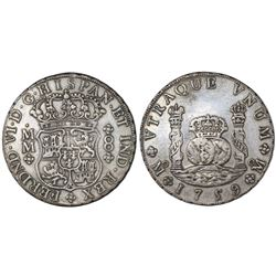 Mexico City, Mexico, pillar 8 reales, Ferdinand VI, 1759MM.