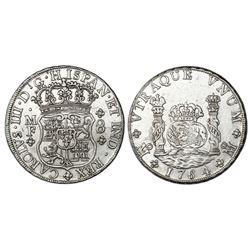 Mexico City, Mexico, pillar 8 reales, Charles III, 1764MF.