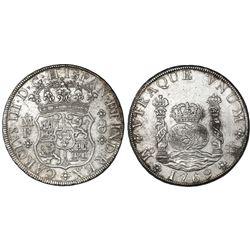 Mexico City, Mexico, pillar 8 reales, Charles III, 1769MF.