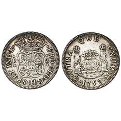 Mexico City, Mexico, pillar 2 reales, Ferdinand VI, 1757/6M.