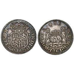 Mexico City, Mexico, pillar 2 reales, Charles III, 1761M.