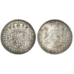 Mexico City, Mexico, pillar 2 reales, Charles III, 1766M.