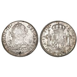 Mexico City, Mexico, bust 8 reales, Charles III, 1788FM.