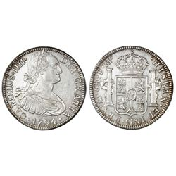 Mexico City, Mexico, bust 8 reales, Charles IV, 1794FM.