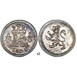 Mexico City, Mexico, 1/4 real, 1803, NGC AU 58.