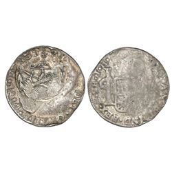 Congress of Chilpanzingo (Veracruz), Mexico, countermark on a Mexico City, Mexico, bust 2 reales, Ch