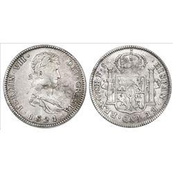 Guadalajara, Mexico, bust 8 reales, Ferdinand VII, 1821FS.