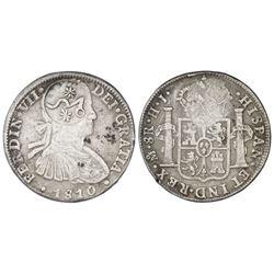 Morelos (Veracruz), Mexico, Type A countermark on a cast Mexico City, Mexico, bust 8 reales, Ferdina
