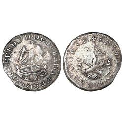 Tlalpujahua, Mexico (National Congress), 1 real, Ferdinand VII, 1813, NGC VF 25.