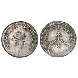 Oaxaca (Morelos), Mexico, 1/2 real, (1813).
