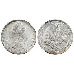 Mexico City, Mexico, 1 peso  balance scale,  1872M, NGC MS 61.