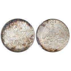 "Mexico City, Mexico, 1 peso ""Caballito,"" 1913/2, NGC MS 62."