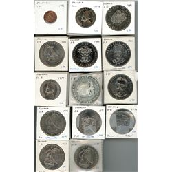 Large lot of Panama partial denomination sets from 1975 to 1996, including some 10 and 5 balboas, va
