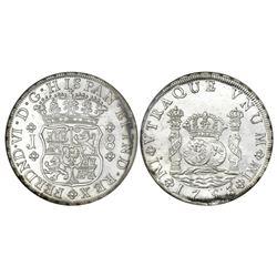 Lima, Peru, pillar 8 reales, Ferdinand VI, 1753J, NGC MS 61.