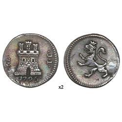 Lima, Peru, 1/4 real, 1795JI.