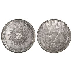 Cuzco, South Peru, 8 reales, 1838MS.