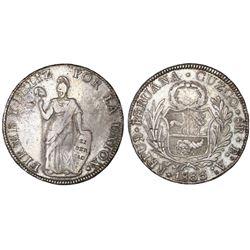 Cuzco, Peru, 8 reales, 1833BoAr.