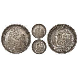 Lima, Peru, 1 dinero, 1895TF, NGC MS 64.