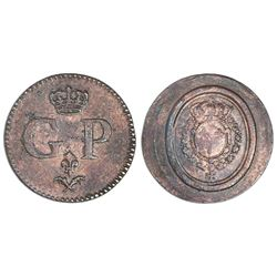 Guadeloupe, copper token (early 1800s).