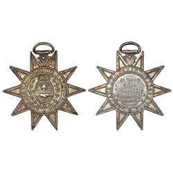 Buenos Aires, Argentina, silver military star decoration, (1869), Paraguay Campaign, with loop at to