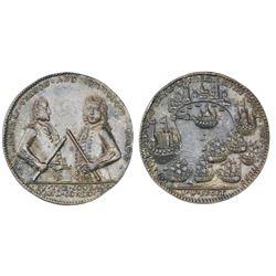 Great Britain, copper alloy Admiral Vernon medal, 1739, Porto Bello, Vernon and Brown.