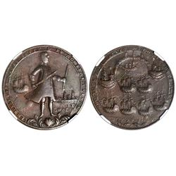 Great Britain, copper alloy Admiral Vernon medal, 1739, Porto Bello / Fort Chagre, NGC VF 30 BN.