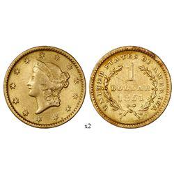 USA (Philadelphia mint), $1 Indian Princess, 1851.