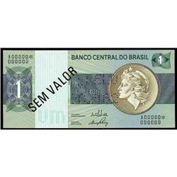 Brazil, Banco Central do Brasil, specimen 1 cruzeiro, no date (1970), MODELO 002162 perforation.