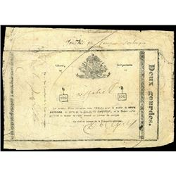Haiti, Empire of Haiti, 2 gourdes, 16-4-1851.