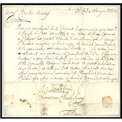 French letter from Cadiz to Lille dated 1715 mentioning the pending arrival of the New Spain Fleet (