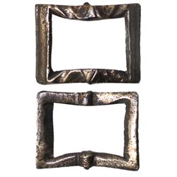 Small brass buckle, from the Princess Maria (1686), rare provenance.