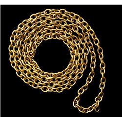 "Gold chain (plain links), 22K, 43"" long, 125 grams, ex-1715 Fleet, ex-Real Eight (Kip Wagner), ex-Ul"
