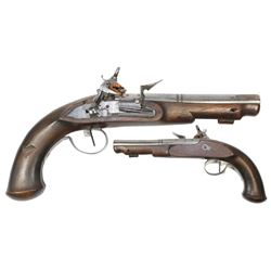 Spanish or southern European miquelet officer's pistol, late 1700s.