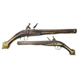 Eastern European flintlock trade pistol, 1700s-1800s.