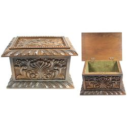 Small Spanish colonial money or valuables chest, 1800s.