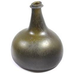 English  onion  bottle, ca. 1710-15.