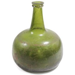 "Intact ""onion"" bottle, 1700s."