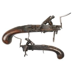 European flintlock tinder lighter, early 1700s.