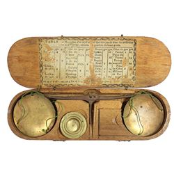 French balance scale for gold coins, early 1800s.