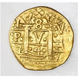 Lima, Peru, cob 8 escudos, 1747V.